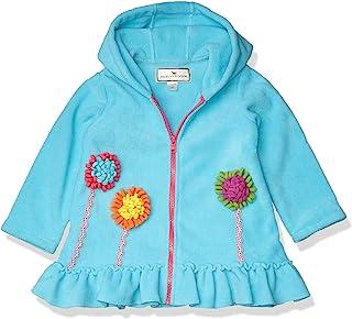 American Widgeon 女孩连帽花朵贴花羊毛外套