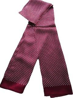 * 丝绸双层男式围巾领时尚衬衫
