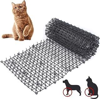 猫钉垫,室内室外猫阻止垫,带尖头的猫恐慌垫,挖掘塞防猫网络(78×11 英寸)