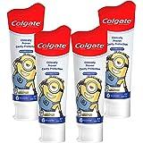 Colgate 高露洁 儿童牙膏,含抗龋齿氟化物,配以小黄人图案,温和泡沫水果凝胶-4.6盎司,130克(4支)