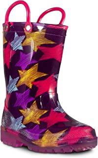 ZOOGS 儿童发光雨靴 适合小童和学步儿童,男孩和女孩