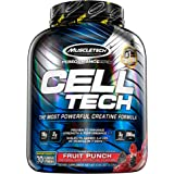 MuscleTech 肌肉科技 Cell-Tech 肌酸粉,肌酸一水合物粉 | 锻炼后恢复 | 男女肌肉增长 | 肌肉增…
