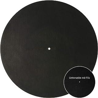 Sonicvoice 转盘套由苯胺染色黑色真皮制成,毛毡结合,带来完美的音效体验