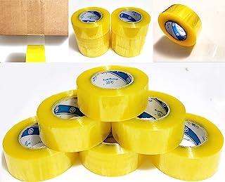 6 卷透明包装胶带 - 每卷 220 码 - 2 英寸宽 x 2.0 密耳厚商业级粘性重型胶带适用于箱子办公室搬运包装运