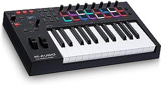 M-Audio Oxygen Pro 25 – 25 键 USB MIDI 键盘控制器带节拍垫,MIDI 可分配控制器和按钮和包含软件包