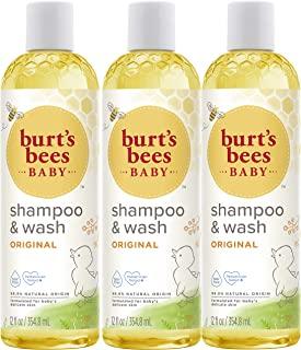 Burt's Bees Baby 蜜蜂洗发水&沐浴露 12液体盎司 3瓶装