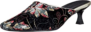 Lily Brown 丝绒刺绣拖鞋 LWGS211309 女士