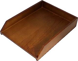 HumanCentric 木质信纸托盘(黑色胡桃木)  办公桌纸托盘