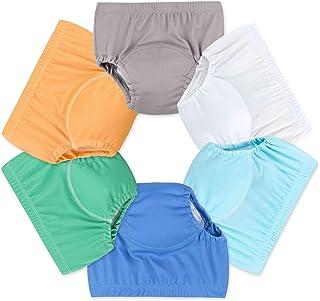 6件装婴儿女孩男孩 toliet PEE 如厕训练裤尿布 nappy 内衣