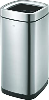 EKO 垃圾桶,不锈钢哑光,31.5 x 31.5 x 68.6 厘米