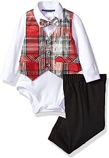 Bonnie Baby Boys' Baby Girls 4 Pc Vested Pant Set