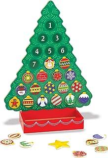 Melissa & Doug 木制冒险日历 - 磁性圣诞树,25 个磁铁