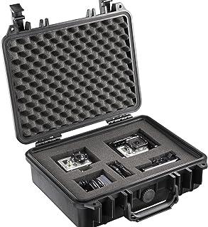Mantona 户外摄影保护箱 L(适合 DSLR相机、GoPro 动作摄像机、照片设备等,尺寸L,防水,防震,防尘)黑色18508 Case M Medium 黑色