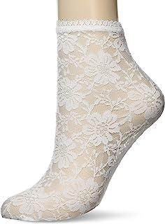 ATSUGI 厚木 THE LEG BAR 蕾丝花纹 低圆领 女士 FS60001