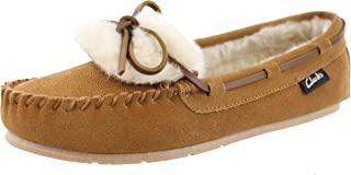Clarks 女式 Holly 人造毛皮拖鞋
