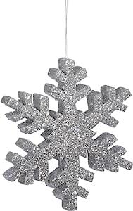 "8"" Outdoor Glitter Snowflake Ornament"