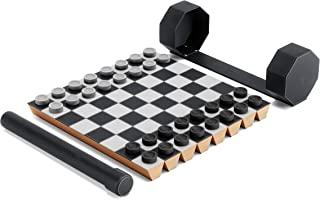 Umbra Rolz 游戏套装 国际象棋和女士 可卷起 带储物盒 理想的旅行游戏