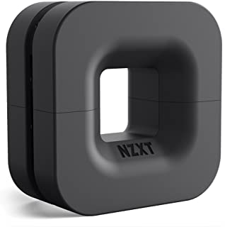 NZXT Puck - BA-PUCKR-B1 - 电缆管理和耳机支架 - 紧凑尺寸 - 硅胶结构 - 用于电脑外壳安装的强大磁铁 - 黑色