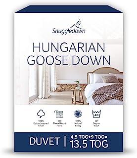 Snuggledown匈牙利鹅绒羽绒被,所有季节适用13.5 Tog(4.5 + 9.0), 双人
