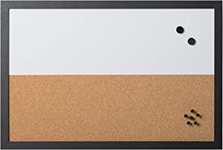 Bi-Office 组合板 白板和备忘板元素,磁性,可干擦/软木,黑色 MDF 框架,60 x 40 厘米