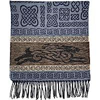 精细编织凯尔特围巾苏格兰制造,基于传统凯尔特图案和图案的系列