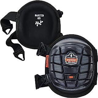 Ergodyne ProFlex 355 专业护膝,防护短帽,注入式凝胶衬垫技术,可调节肩带,黑色