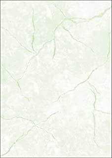 Sigel 美纹纸,双面图案,信纸 90克,DIN A4,100张 A4 Granit grün