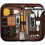 手表维修套件,Eventronic 专业弹簧棒工具套装手表表带链接针工具套装带便携箱(棕色)