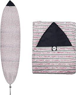 Dawitrly 冲浪板袜套,轻质 6 英尺(约 1.8 米)弹力针织尖鼻冲浪板保护套保护袋储物袋,适用于短板/风筝板/湿风板/滑雪板..