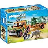 Playmobil 摩比世界 Wild Life 6937 护林员越野车 带拖笼,适用于4岁以上儿童