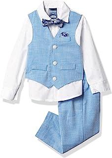 Nautica 诺帝卡 男童 4 件套,带衬衫、背心、裤子和蝴蝶结