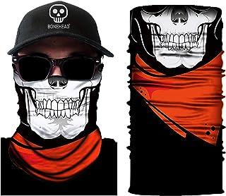 骨头无缝骷髅头头头头巾面罩,男女儿童头巾冬季围巾音乐节狂欢骑摩托车滑雪滑雪板钓鱼