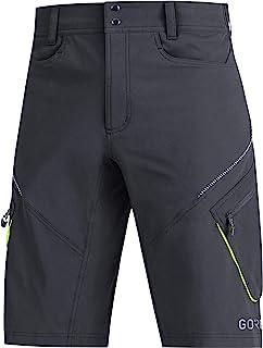 GORE Wear 男士透气山地自行车短裤,GORE Wear C3 越野短裤,尺码:S,颜色:动态青色,100047