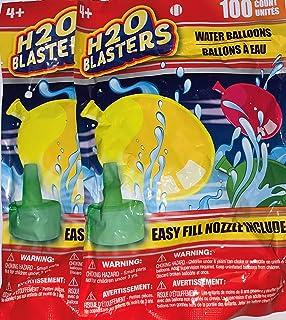 2 包 H2O 喷气枪 100 个水气球,带易填充喷嘴