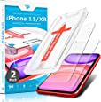 Power Theory iPhone XR 玻璃屏幕保护膜 [2 件装] 带简易安装套件 [优质钢化玻璃]