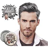 Play 'Do 临时*颜色,灰色*蜡,*粘土,男士美发,发油,银色染料(1.8 盎司).
