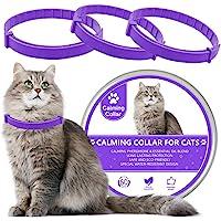 LUPUS 3 件装猫*项圈,猫舒缓项圈,天然猫信息素舒缓项圈,可调节,防水*,减少猫的*……(紫色)