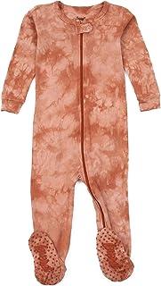 Leveret 儿童与幼儿连脚睡衣 男孩女孩 * 纯棉扎染(尺码 3 个月-5 岁) Peach Mix 3T