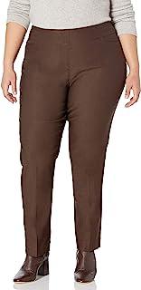 SLIM-SATION 女式加大码裤,带正面 L 口袋