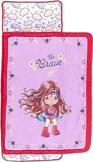 Precious Moments 女孩午睡垫以伊莎贝拉的*英雄为特色,日常儿童出品;可拆卸枕头和卷式设计,带手柄,适合幼儿、托儿所、学龄前和幼儿园