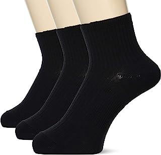 ATSUGI 厚木 运动袜 CRANK 罗纹编织 脚底支撑 高剪裁长度(脚踝上长度) 袜子 运动 <3双装> 运动鞋 跑步 男士