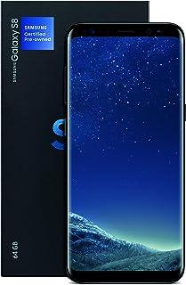 三星 Galaxy S8 认证二手工厂解锁手机 - 5.8 英寸屏幕 - 64GB - 午夜黑(美国版本)(翻新)