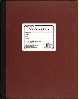 "TOPS COMPUTATION NOTEBOOK 11 3/4""X 9 1/4"",75 SHEETS 4X4 QUAD RULING(35126)"