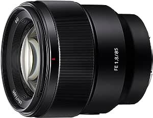 Sony 索尼 SEL85F18 85mm F/1.8-22 中档固定式 Prime 相机镜头,黑色