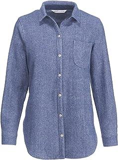 Woolrich W's 羊毛阿拉斯加男友襯衫,海王星,M 碼