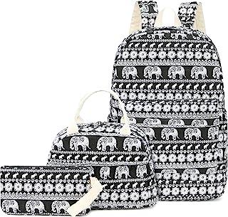 学校背包适合少女轻质帆布背包书包套装