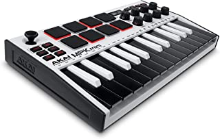 Akai Professional MPK mini mk3 – 25键USB MIDI键盘控制器 搭载8个动态模式的背光垫/8个旋转编码旋钮,附带音乐制作软件。