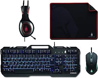 Spartan Gear Hydra II 游戏组合(键盘、鼠标、耳机、鼠标垫)适用于 PC