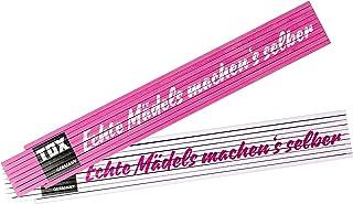 TOX,粉色/白色,Metre Rule,2米,印记:Echte Mädels Machen'S Selber,Real Power 女士折叠尺,1 件,09969002