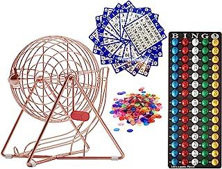 MR CHIPS 专业 Bingo 套装,带 Bingo 球、宾戈板、宾戈卡片和宾戈筹码 - 4 种颜色选择